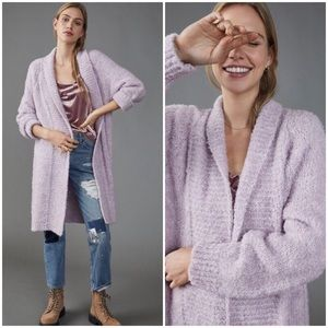 NWT ANTHROPOLOGIE LILLA TEXTURED CARDIGAN IN LILAC